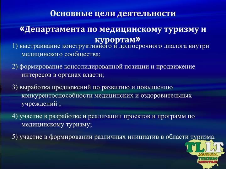Основные цели деятельности