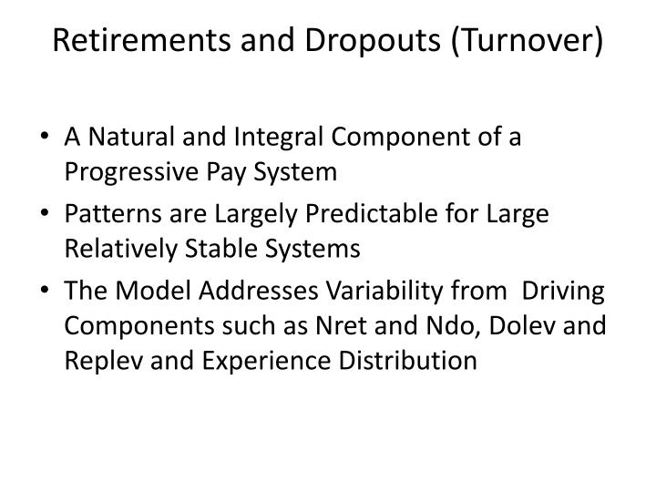 Retirements and Dropouts (Turnover)