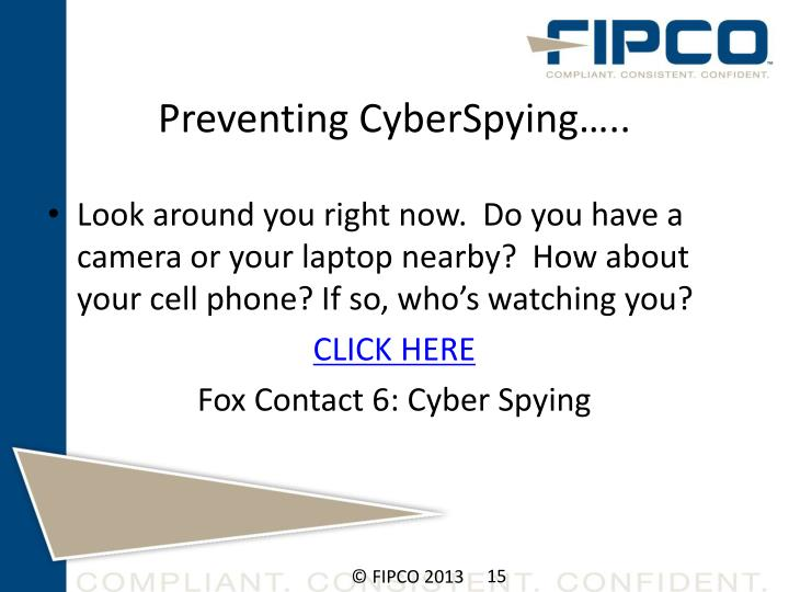 Preventing CyberSpying…..