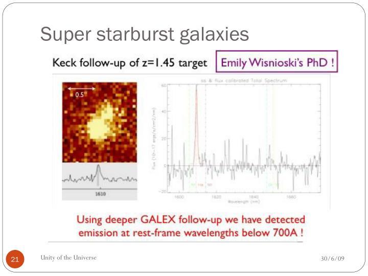 Super starburst galaxies