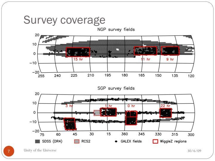 Survey coverage