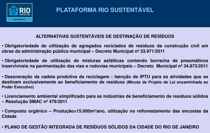 PLATAFORMA RIO SUSTENTÁVEL