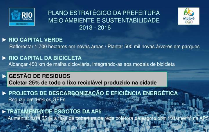 PLANO ESTRATÉGICO DA PREFEITURA