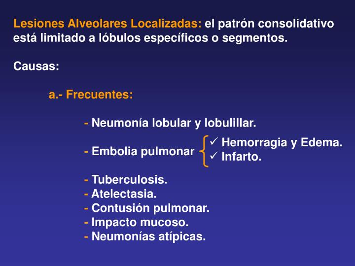 Lesiones Alveolares Localizadas: