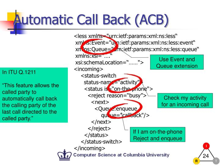 Automatic Call Back (ACB)