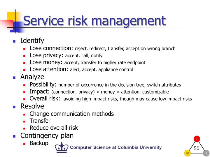Service risk management