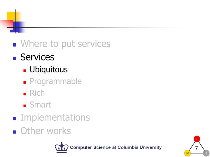 Where to put services