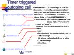 timer triggered outgoing call