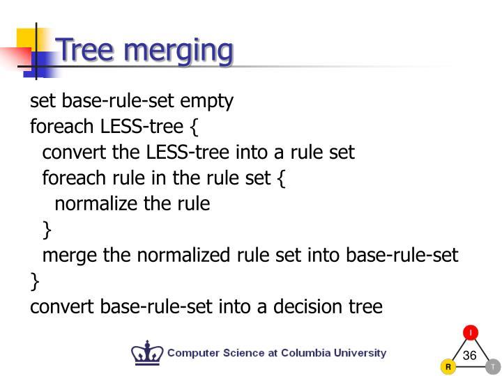 Tree merging