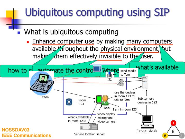 Ubiquitous computing using SIP
