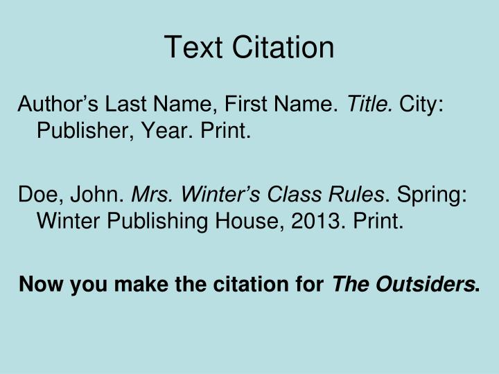 Text Citation