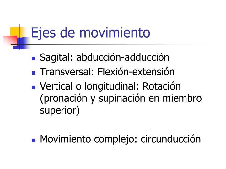 Ejes de movimiento