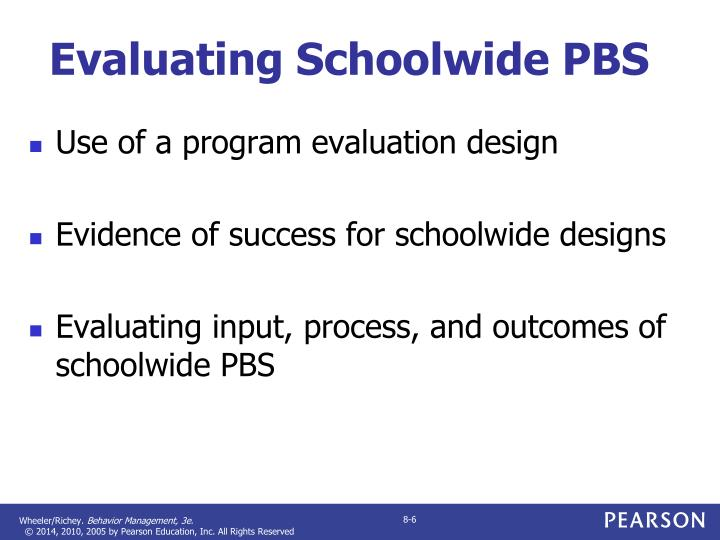 Evaluating Schoolwide PBS