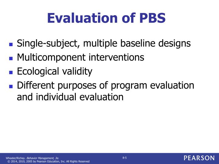 Evaluation of PBS