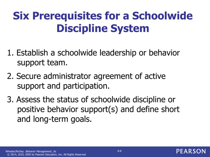Six Prerequisites for a Schoolwide Discipline System