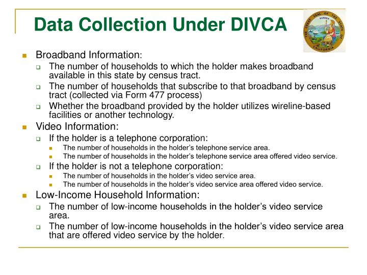 Data Collection Under DIVCA
