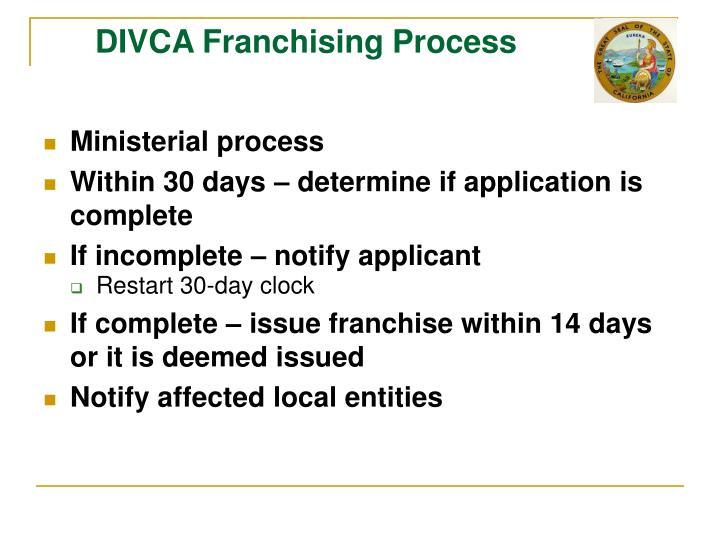 DIVCA Franchising Process