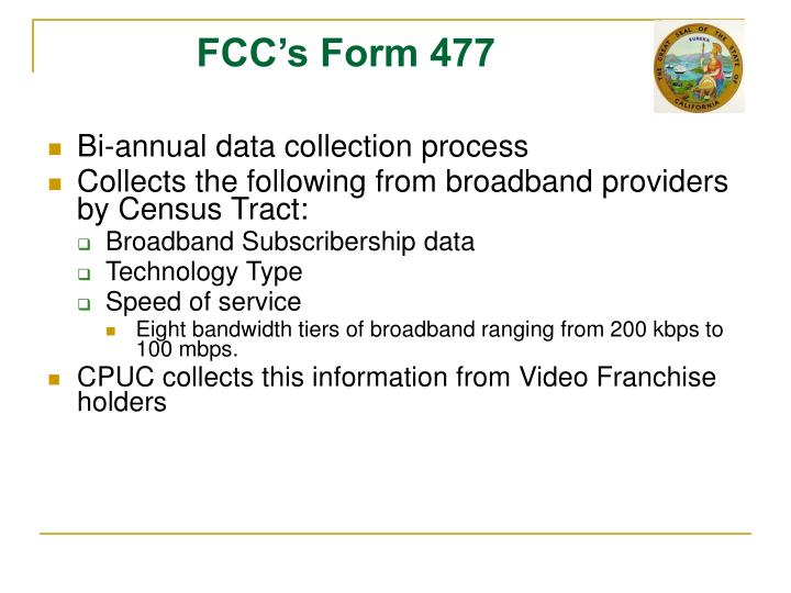 FCC's Form 477