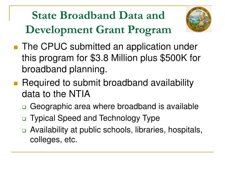 State Broadband Data and Development Grant Program