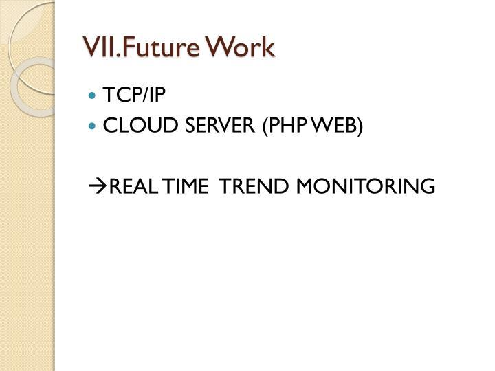 VII.Future