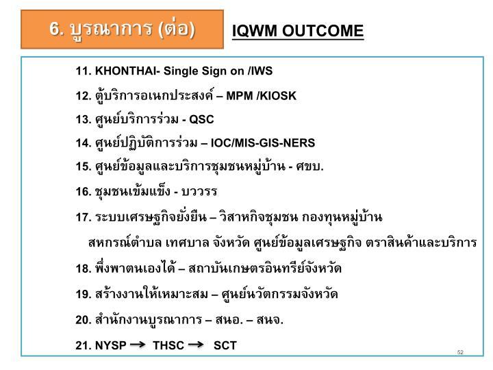 IQWM OUTCOME