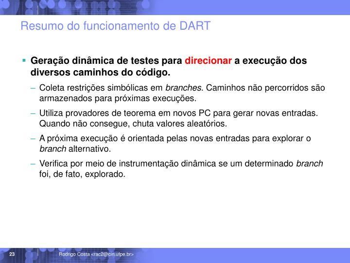 Resumo do funcionamento de DART