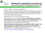national commission on energy rowe tierney holdren cavanagh joskow sharp et al
