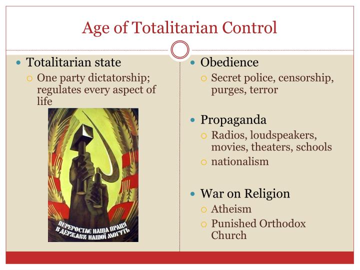 Age of Totalitarian Control