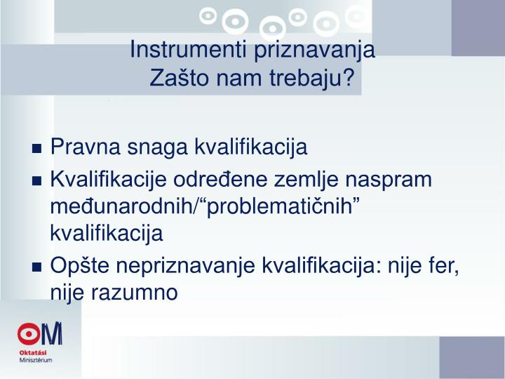 Instrumenti priznavanja