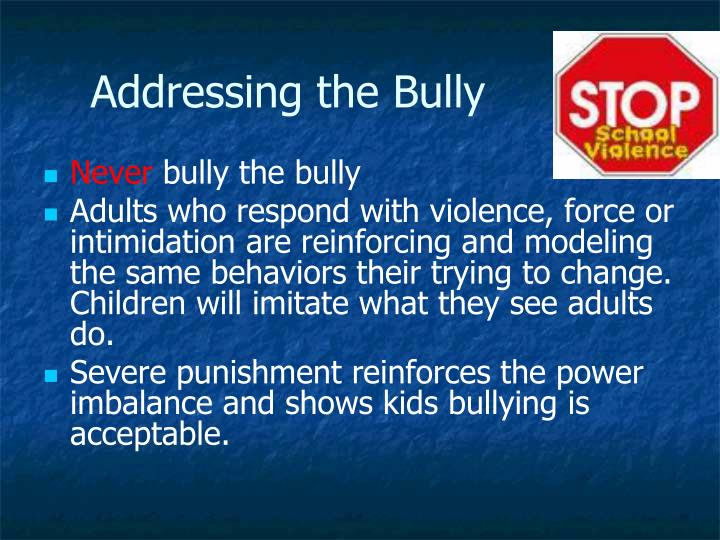 Addressing the Bully