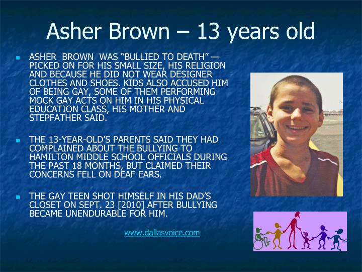Asher Brown – 13 years old