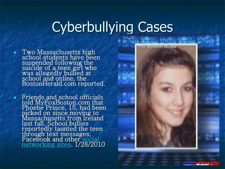 Cyberbullying Cases