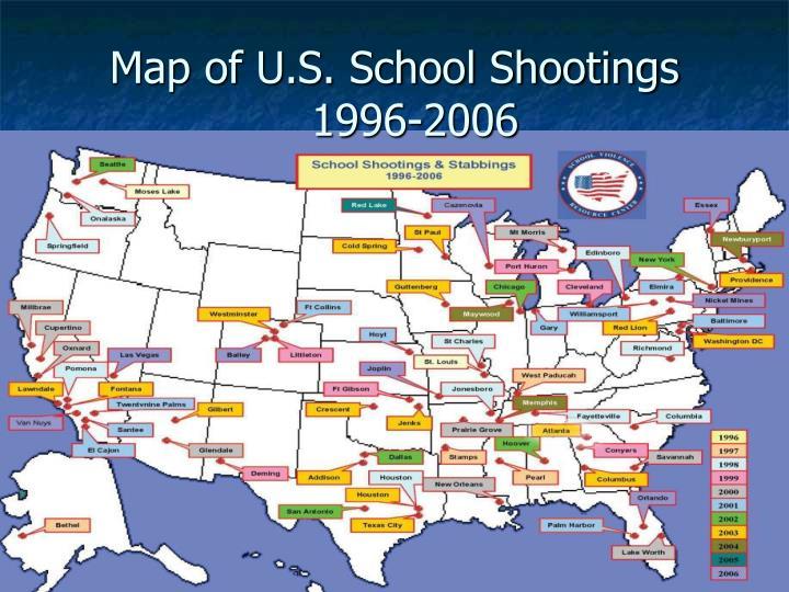 Map of U.S. School Shootings