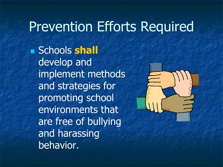 Prevention Efforts Required