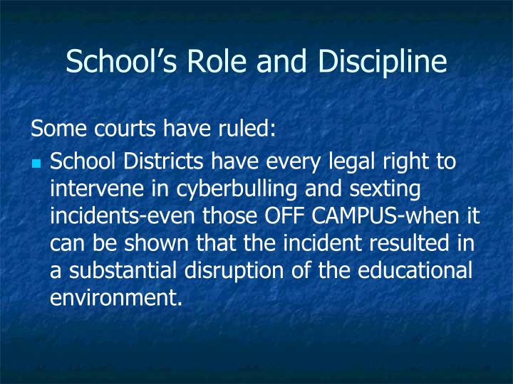 School's Role and Discipline
