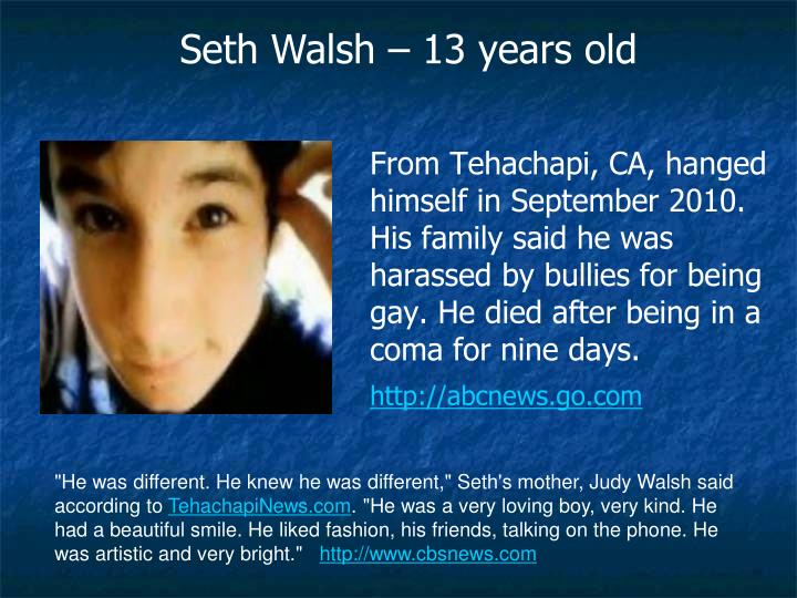 Seth Walsh – 13 years old