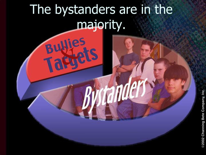 The bystanders are in the majority.