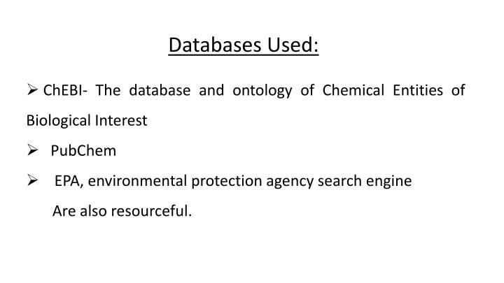 Databases Used: