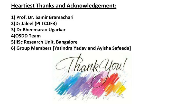 Heartiest Thanks and Acknowledgement: