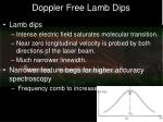 doppler free lamb dips