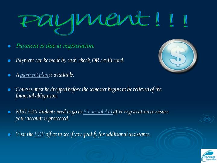 Payment ! ! !