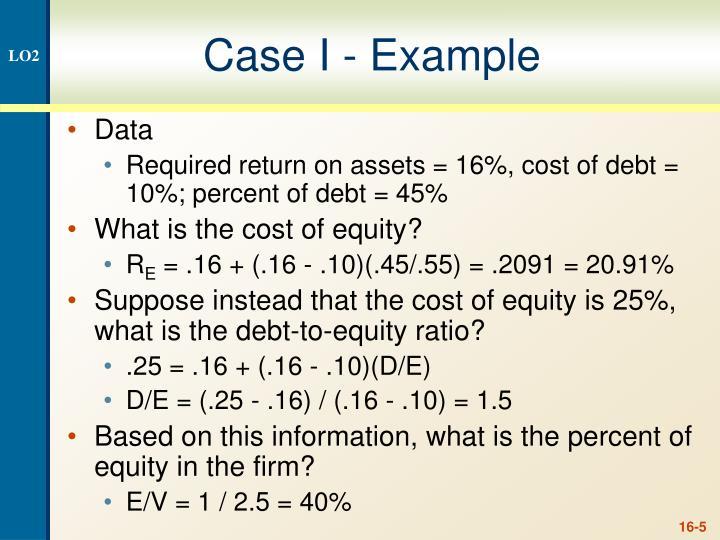 Case I - Example