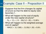 example case ii proposition ii