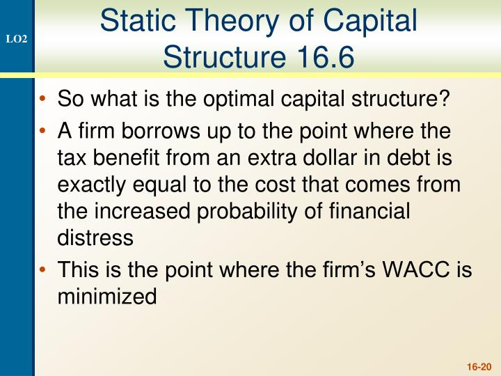 Static Theory of Capital Structure 16.6