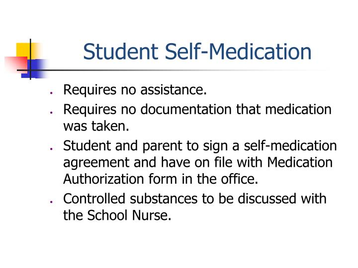 Student Self-Medication