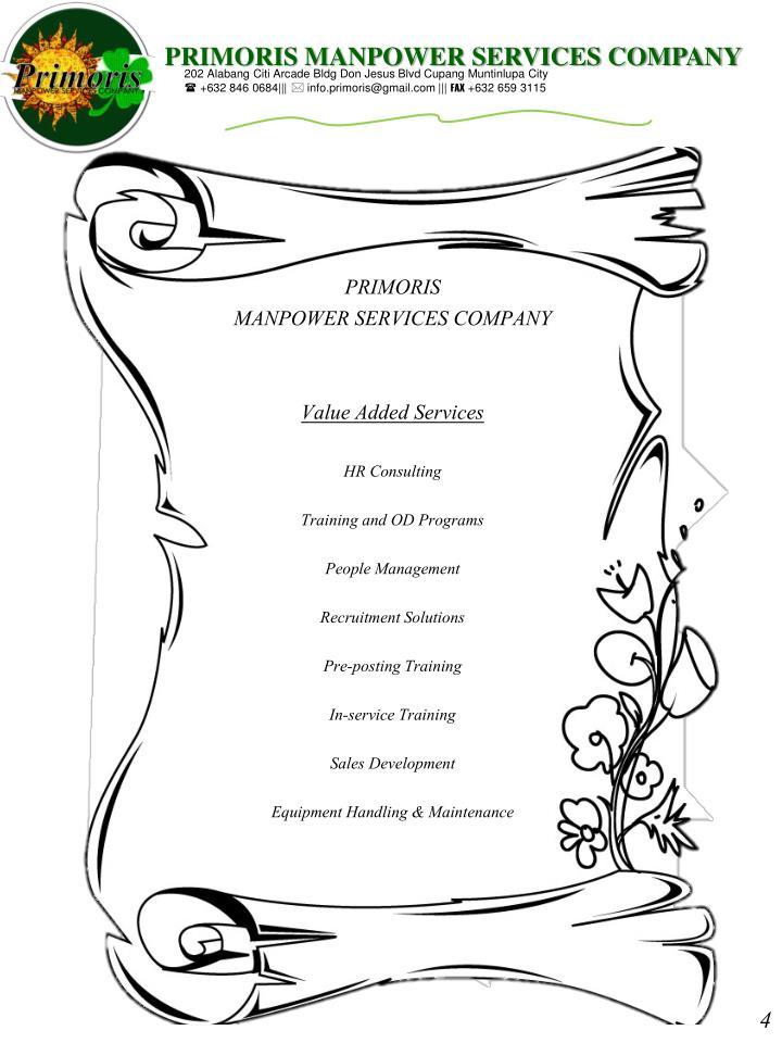 PRIMORIS MANPOWER SERVICES COMPANY