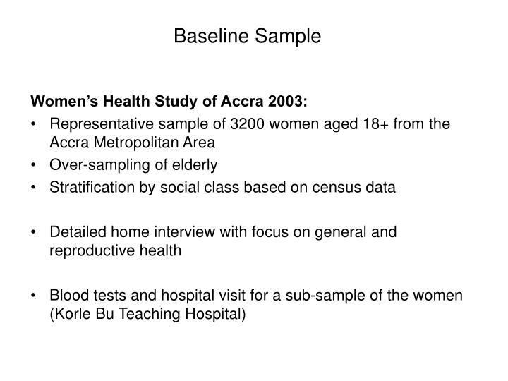 Baseline Sample