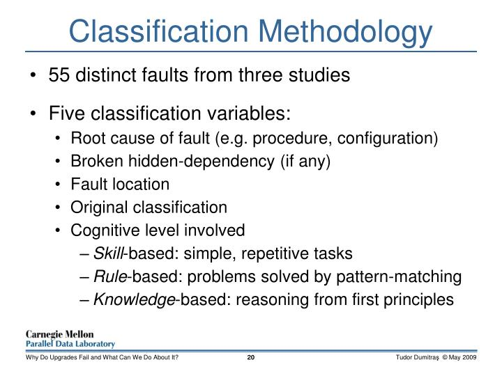 Classification Methodology