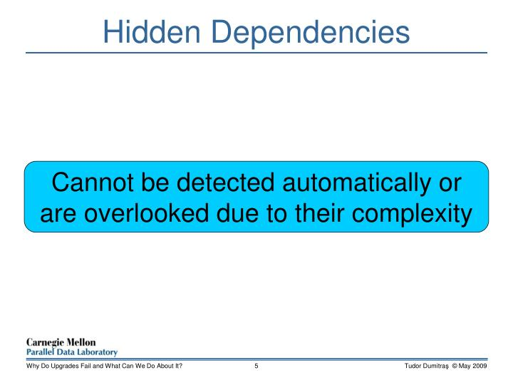 Hidden Dependencies