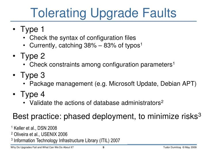 Tolerating Upgrade Faults